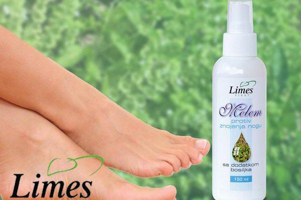 limes melem protiv znojenja nogu